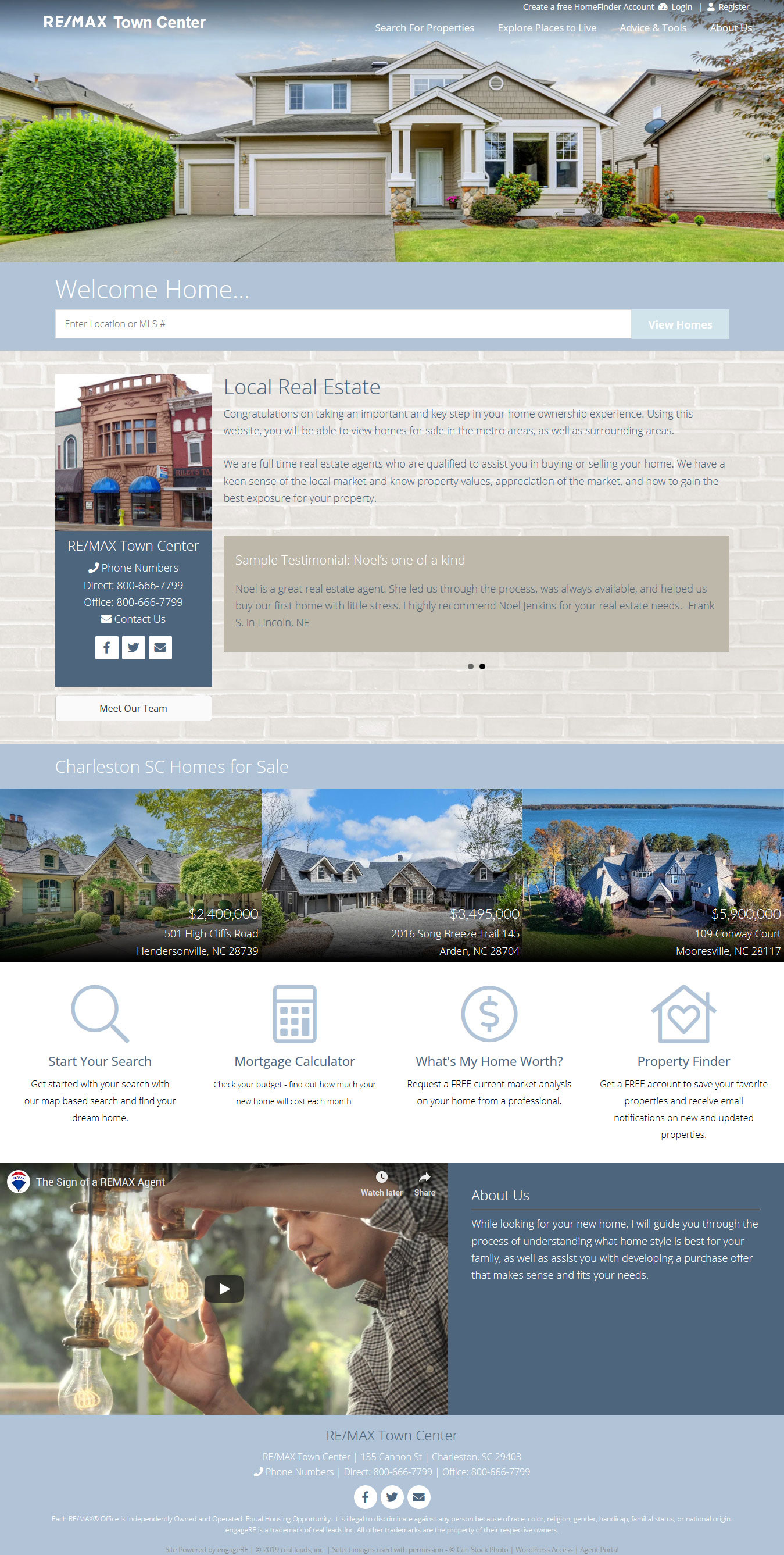 Sample office website using Curie Design Kit
